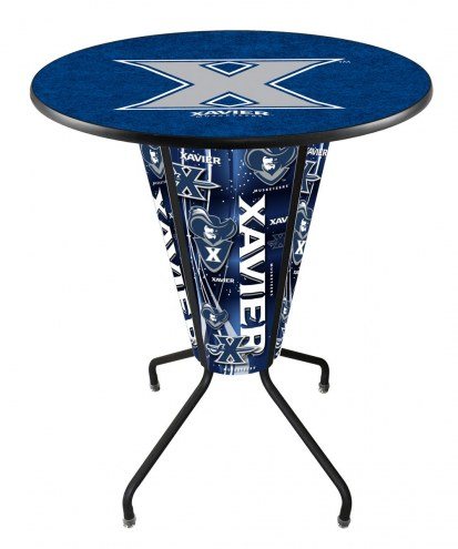 Xavier Musketeers Indoor Lighted Pub Table