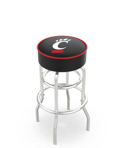 Cincinnati Bearcats Double-Ring Chrome Base Swivel Bar Stool