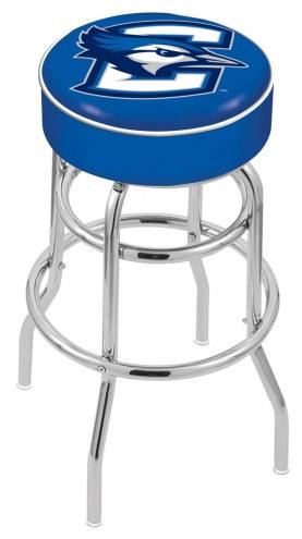 Creighton Bluejays Double-Ring Chrome Base Swivel Bar Stool