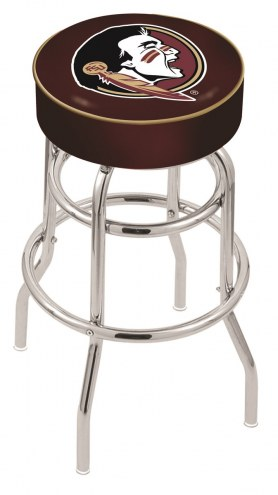 FSU Seminoles Double-Ring Chrome Base Swivel Bar Stool