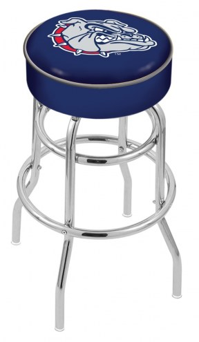 Gonzaga Bulldogs Double-Ring Chrome Base Swivel Bar Stool