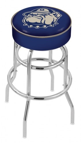 Georgetown Hoyas Double-Ring Chrome Base Swivel Bar Stool