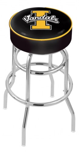 Idaho Vandals Double-Ring Chrome Base Swivel Bar Stool
