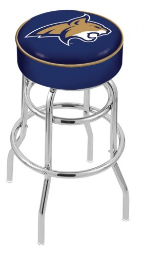 Montana State Bobcats Double-Ring Chrome Base Swivel Bar Stool