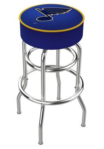 St. Louis Blues Double-Ring Chrome Base Swivel Bar Stool