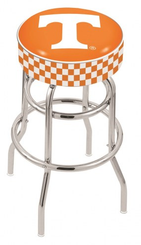 Tennessee Volunteers Double-Ring Chrome Base Swivel Bar Stool