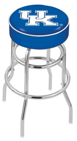 Kentucky Wildcats Double-Ring Chrome Base Swivel Bar Stool
