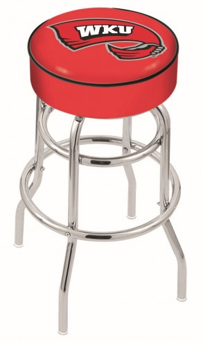 Western Kentucky Hilltoppers Double-Ring Chrome Base Swivel Bar Stool