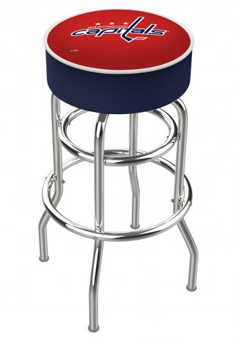Washington Capitals Double-Ring Chrome Base Swivel Bar Stool