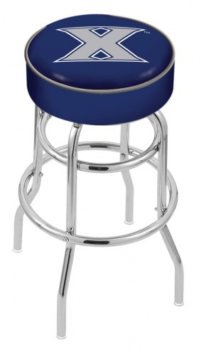 Xavier Musketeers Double-Ring Chrome Base Swivel Bar Stool