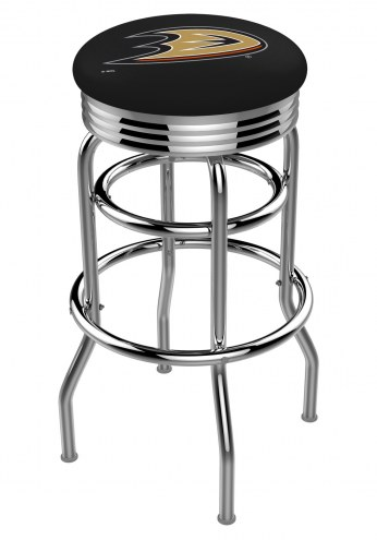 Anaheim Ducks Double Ring Swivel Barstool with Ribbed Accent Ring
