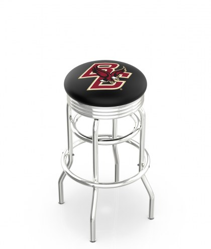 Boston College Eagles Double Ring Swivel Barstool with Ribbed Accent Ring