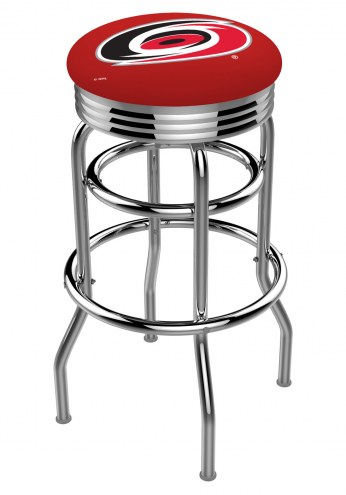 Carolina Hurricanes Double Ring Swivel Barstool with Ribbed Accent Ring