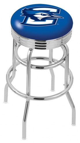 Creighton Bluejays Double Ring Swivel Barstool with Ribbed Accent Ring