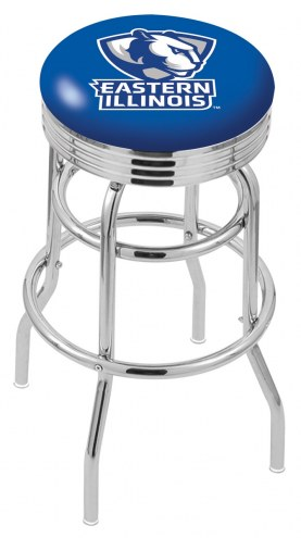 Eastern Illinois Panthers Double Ring Swivel Barstool with Ribbed Accent Ring