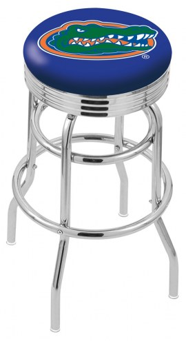 Florida Gators Double Ring Swivel Barstool with Ribbed Accent Ring