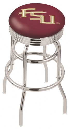 FSU Seminoles Double Ring Swivel Barstool with Ribbed Accent Ring