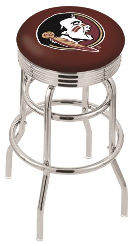 Florida State Seminoles Double Ring Swivel Barstool with Ribbed Accent Ring