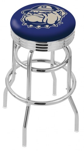 Georgetown Hoyas Double Ring Swivel Barstool with Ribbed Accent Ring