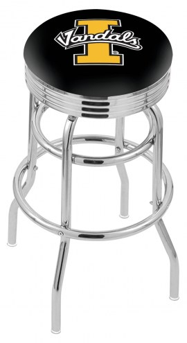 Idaho Vandals Double Ring Swivel Barstool with Ribbed Accent Ring