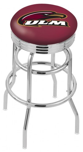 Louisiana-Monroe Warhawks Double Ring Swivel Barstool with Ribbed Accent Ring