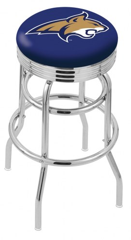 Montana State Bobcats Double Ring Swivel Barstool with Ribbed Accent Ring
