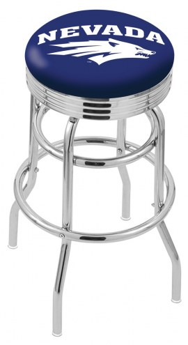 Nevada Wolf Pack Double Ring Swivel Barstool with Ribbed Accent Ring