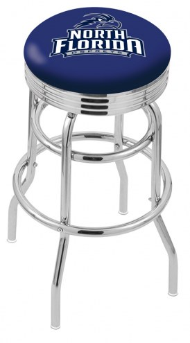 North Florida Ospreys Double Ring Swivel Barstool with Ribbed Accent Ring
