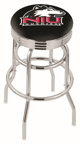 Northern Illinois Huskies Double Ring Swivel Barstool with Ribbed Accent Ring