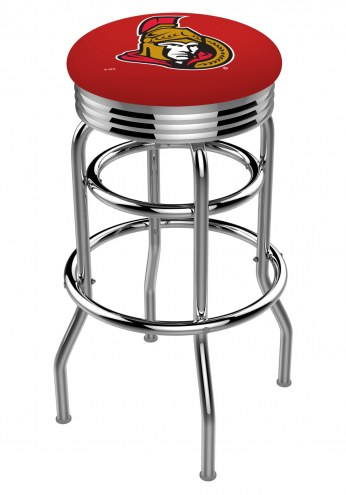 Ottawa Senators Double Ring Swivel Barstool with Ribbed Accent Ring