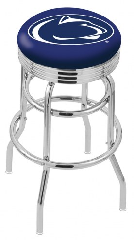 Penn State Nittany Lions Double Ring Swivel Barstool with Ribbed Accent Ring