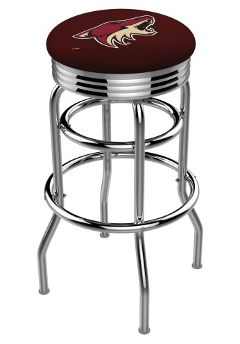 Arizona Coyotes Double Ring Swivel Barstool with Ribbed Accent Ring