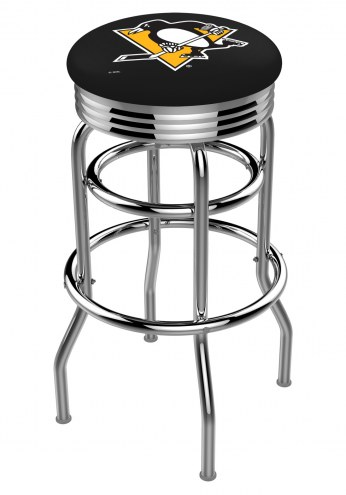 Pittsburgh Penguins Double Ring Swivel Barstool with Ribbed Accent Ring