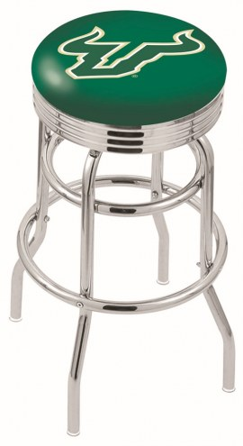 South Florida Bulls Double Ring Swivel Barstool with Ribbed Accent Ring