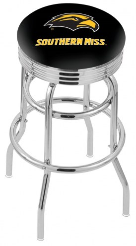 Southern Mississippi Golden Eagles Double Ring Swivel Barstool with Ribbed Accent Ring