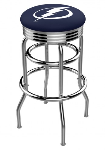 Tampa Bay Lightning Double Ring Swivel Barstool with Ribbed Accent Ring
