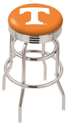 Tennessee Volunteers Double Ring Swivel Barstool with Ribbed Accent Ring