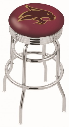 Texas State Bobcats Double Ring Swivel Barstool with Ribbed Accent Ring