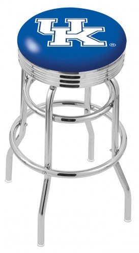 Kentucky Wildcats NCAA Double Ring Swivel Barstool with Ribbed Ring