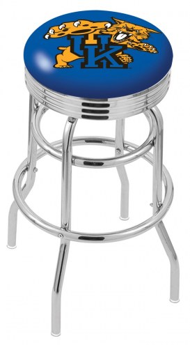 Kentucky Wildcats Double Ring Swivel Barstool with Ribbed Accent Ring