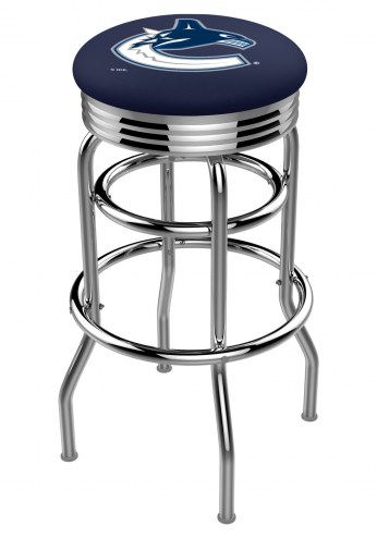 Vancouver Canucks Double Ring Swivel Barstool with Ribbed Accent Ring