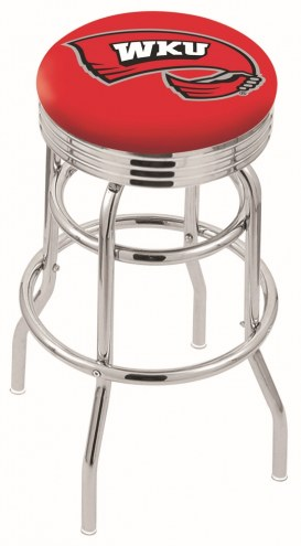 Western Kentucky Hilltoppers Double Ring Swivel Barstool with Ribbed Accent Ring