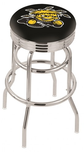 Wichita State Shockers Double Ring Swivel Barstool with Ribbed Accent Ring
