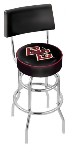 Boston College Eagles Chrome Double Ring Swivel Barstool with Back