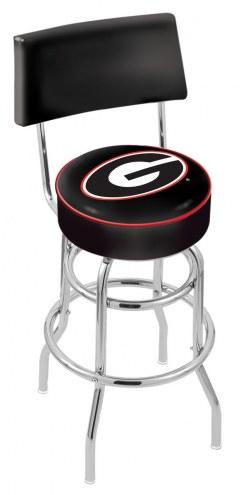 Georgia Bulldogs NCAA Chrome Double Ring Swivel Barstool with Back