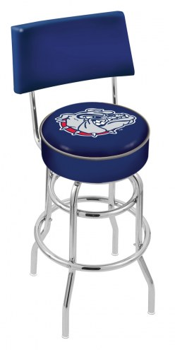 Gonzaga Bulldogs Chrome Double Ring Swivel Barstool with Back