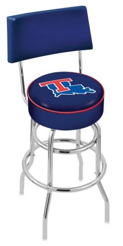 Louisiana Tech Bulldogs Chrome Double Ring Swivel Barstool with Back