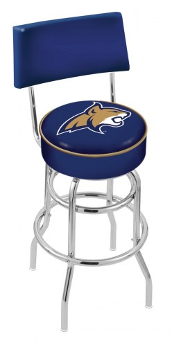 Montana State Bobcats Chrome Double Ring Swivel Barstool with Back