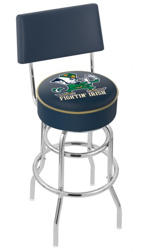 Notre Dame Fighting Irish NCAA Double Ring Swivel Barstool with Back