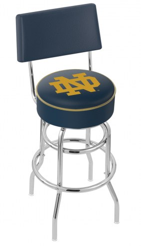 """Notre Dame Fighting Irish """"ND"""" Double Ring Swivel Barstool with Back"""